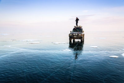 Crystal ice of the deepest lake on earth with Rolf Gemperle.